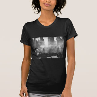 Vintage Smokey Gritty NYC Black and White Skyline T-Shirt