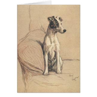 Vintage - Smooth Fox Terrier, Card