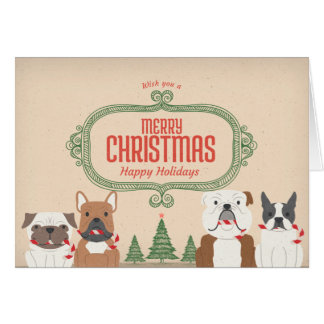 Vintage SNORT Christmas Card