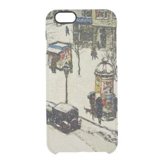 Vintage Snow Covered 1920s City Street Cars Winter Clear iPhone 6/6S Case