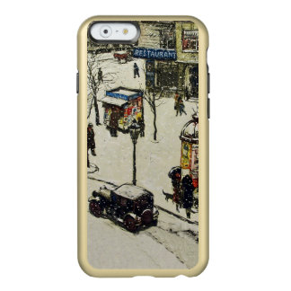 Vintage Snow Covered 1920s City Street Cars Winter Incipio Feather® Shine iPhone 6 Case