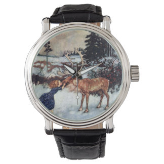 Vintage Snow Queen Illustration Watch