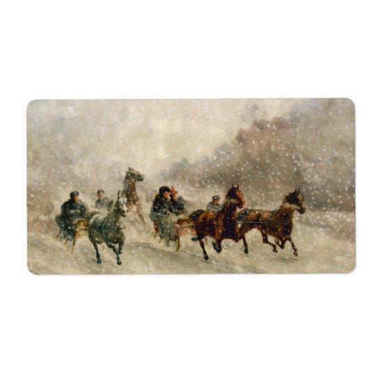 Vintage Snow Sleigh racing