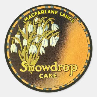 Vintage Snowdrop Cake Label