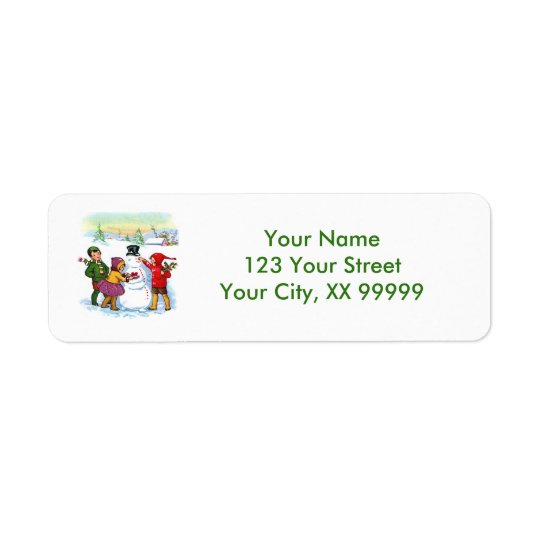 Vintage Snowman Christmas Address Labels