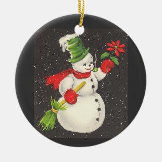 Vintage Snowman Christmas Ornaments