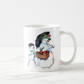 Vintage Snowman Holiday Cup Coffee Mug