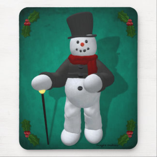 Vintage Snowmen: Lord Cool Mouse Pad