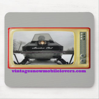 Vintage Snowmobile Lovers 1972 Arctic Cat Mousepad