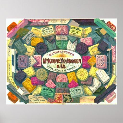 Vintage Soap Ad 1865 Poster