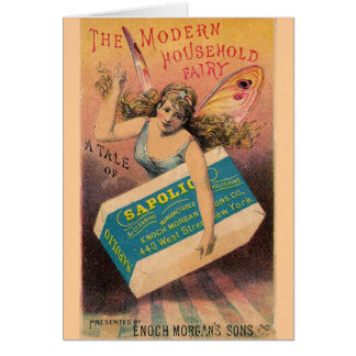 Vintage Soap Ad Fairy Greeting Card