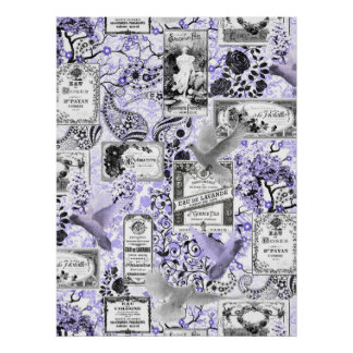 Vintage Soap and Perfume Labels - Lilac Poster