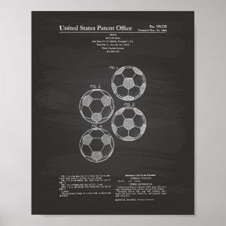Vintage Soccer Ball 1964 Patent Art - Chalkboard Poster