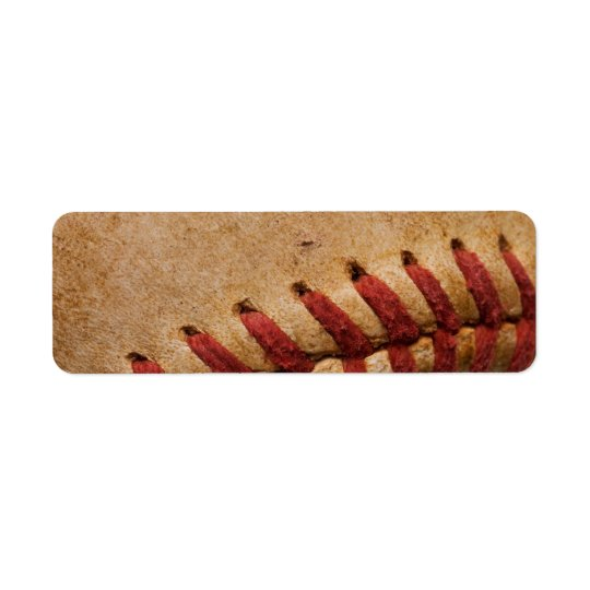 Vintage Softball Close-Up Customised Template Return Address Label