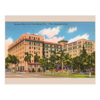 Vintage Soreno Hotel St. Petersburg FL Postcard