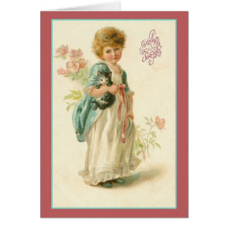 Vintage Souhaits Sincères French Birthday Card