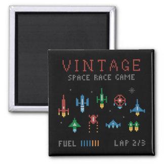 Vintage Space Race Square Magnet