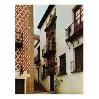 Vintage Spain, Barcelona, Pueblo Espanol Postcard
