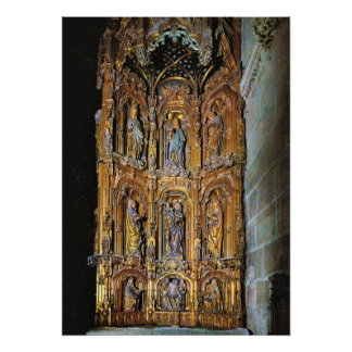 Vintage Spain Burgos Cathedral St Anna s Altar Poster