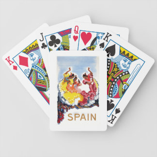 Vintage Spain Flamenco Dancers Travel Poster Bicycle Playing Cards
