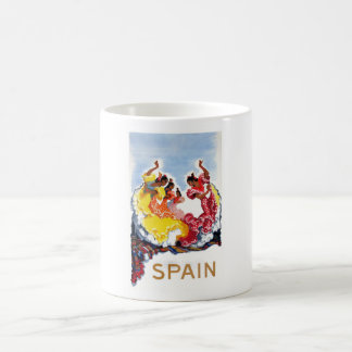 Vintage Spain Flamenco Dancers Travel Poster Coffee Mug