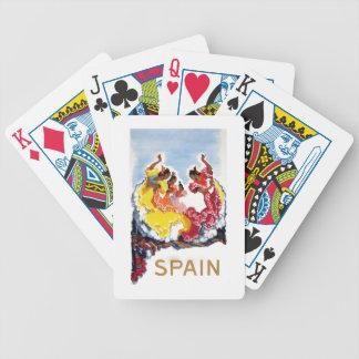 Vintage Spain Flamenco Dancers Travel Poster Poker Deck