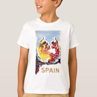 Vintage Spain Flamenco Dancers Travel Poster T-Shirt