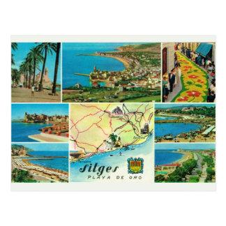Vintage Spain,   Sitges, Playo de oro Postcard
