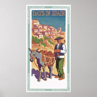 Vintage Spain Travel Ad Art Print Poster
