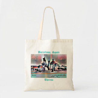Vintage Spain Travel Postcard Add Your Name Tote Bag