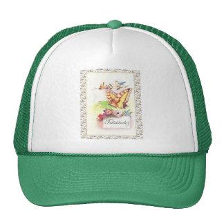 Vintage Spanish greetings, butterfly Trucker Hats