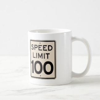 Vintage Speed Limit Sign Speed Limit 100 mph Coffee Mug