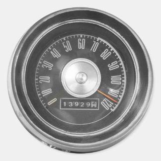 Vintage Speed Round Sticker