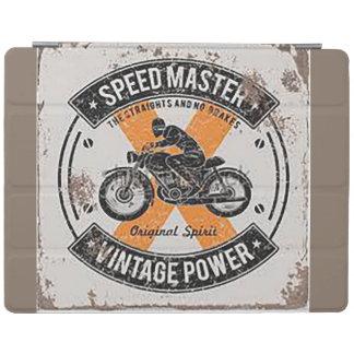 Vintage Speedmaster Emblem iPad Cover