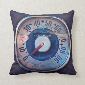 Vintage Speedometer Throwpillow