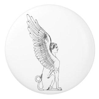 Vintage Sphinx illustration Ceramic Knob