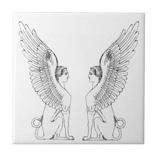 Vintage Sphinx illustration Ceramic Tile
