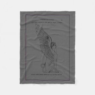 Vintage Sphinx illustration Fleece Blanket