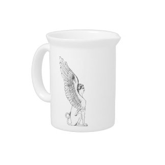 Vintage Sphinx illustration Pitcher