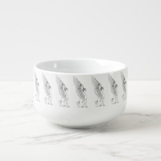 Vintage Sphinx illustration Soup Mug