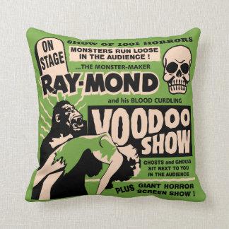 Vintage Spook Show Poster Art - Voodoo Skull ! Cushion