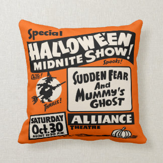 Vintage Spook Show Poster - Halloween Midnite Show Cushion