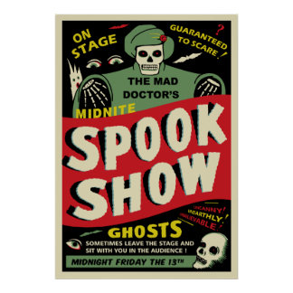 Vintage Spook Show Poster - The Mad Doctor