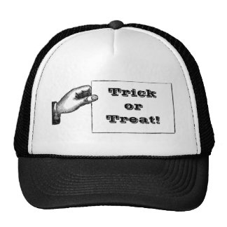 Vintage Spooky Hand Trick or Treat Halloween Mesh Hat
