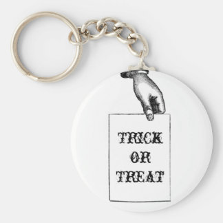 Vintage Spooky Hand Trick or Treat Halloween Key Chains