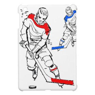Vintage Sports 50s Hockey Players Illustration iPad Mini Cases