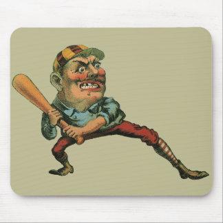 Vintage Sports, Angry Baseball Player Mousepads