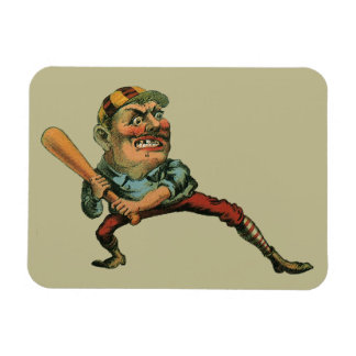Vintage Sports, Angry Baseball Player Magnets
