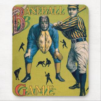 Vintage Sports Baseball, Home Game Mouse Pad
