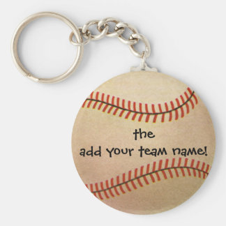 Vintage Sports Baseball Player, Catcher with Mitt Key Ring